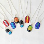 A selection of fused glass pendants