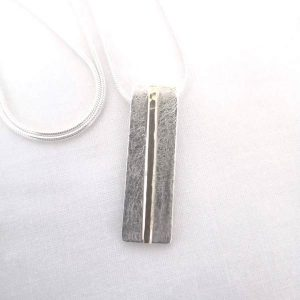 Gold stripe pendant