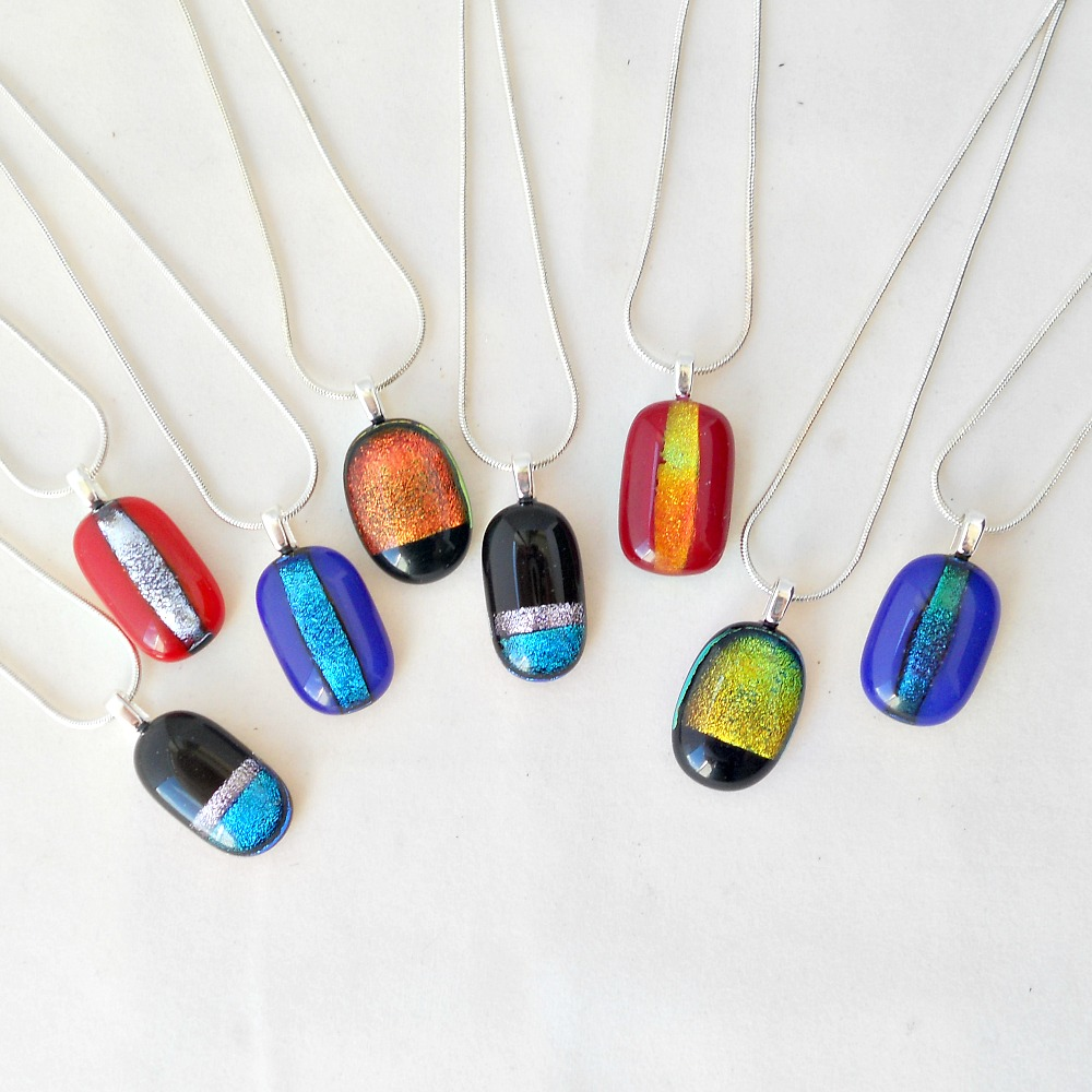 pendants pebble us style multi lolas color art pendant fused glass