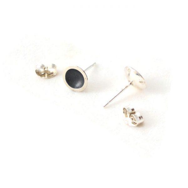 Oxidised silver ear stud