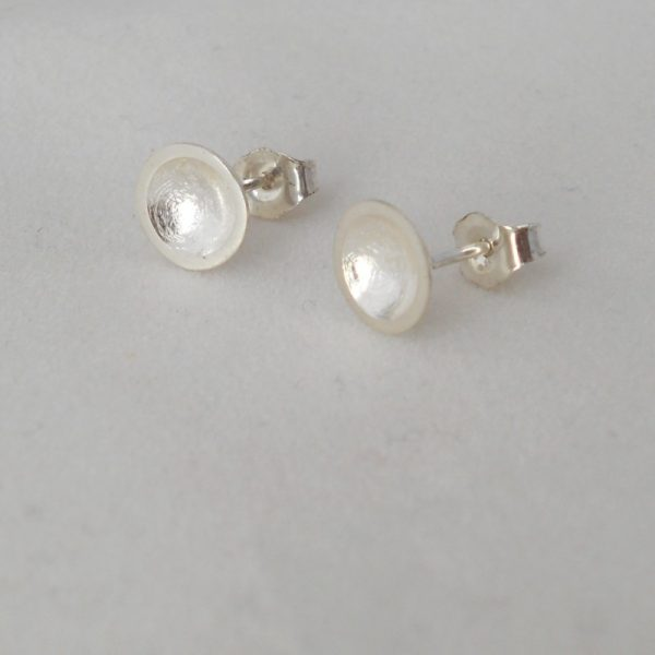 Silver domed studs