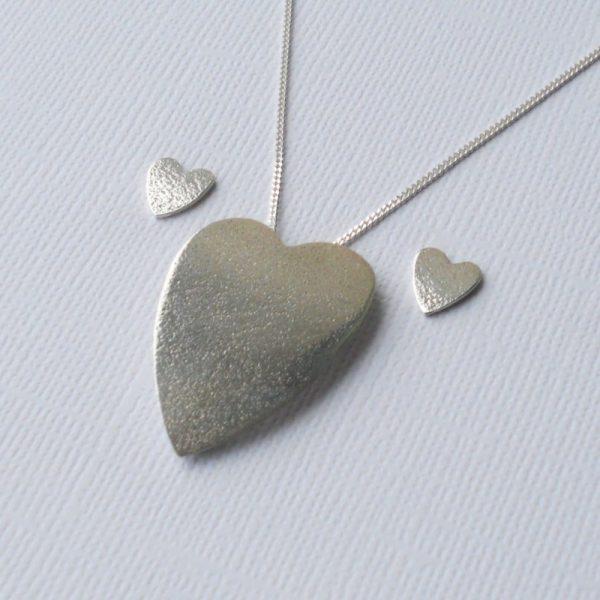 Plain heart jewellery