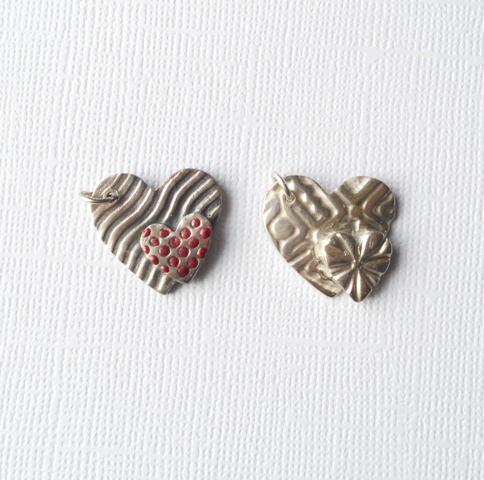 Silver clay workshop pieces
