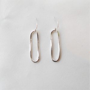 Sterling silver asymmetric earrings