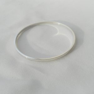 Sterling silver rectangular bangle